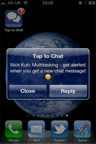 Tap to Facebook Chat on iPhone Multitasking
