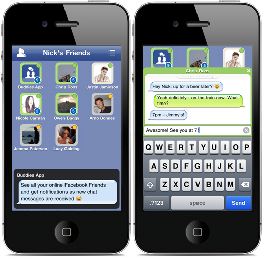 Tap to Facebook Chat on iPhone