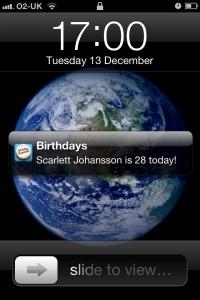 Birthday Reminder for Facebook Reminder Notification